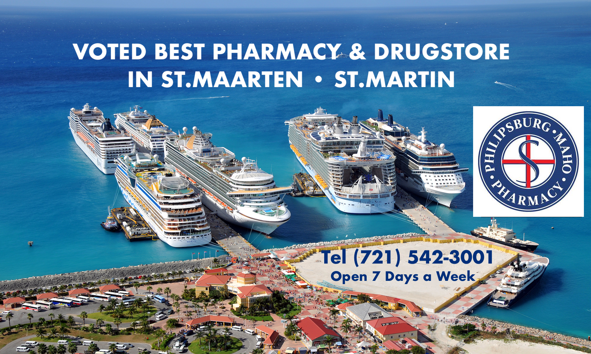 Voted best Pharmacy and Drugstore in St.Maarten-St.Martin